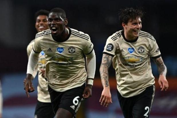 Premier League - Manchester United laat geen steek vallen bij Aston Villa
