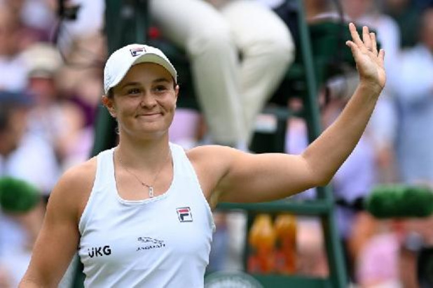's Werelds nummer een Ashleigh Barty naar derde ronde Wimbledon