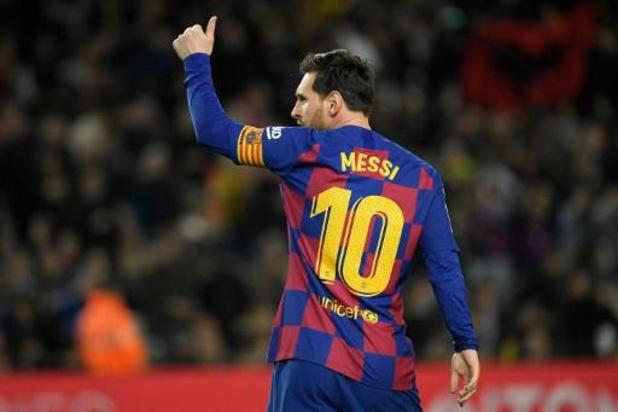 Lionel Messi a aussi offert un million d'euros à la lutte contre le Covid-19