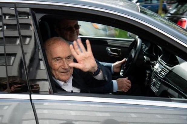 """Fifa: fin de l'audition de Blatter, """"soulagé"""""""