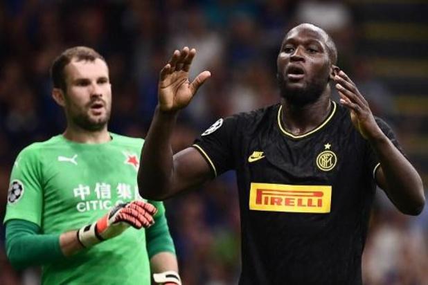 Belgen in het buitenland - Lukaku speelt met Inter gelijk tegen Slavia Praag, net als Denayer met Lyon tegen Zenit