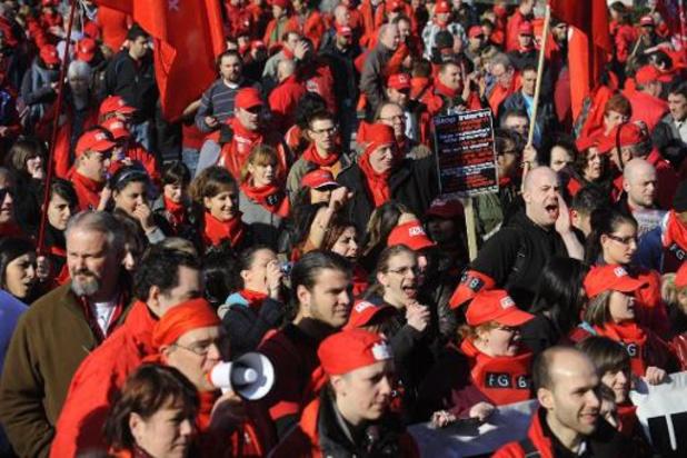 Manifestation nationale de la FGTB le 28 janvier