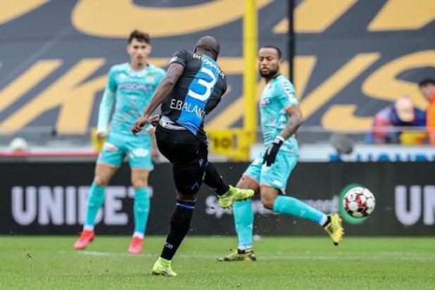 Un but précoce de Balanta permet au Club de Bruges de vaincre Charleroi