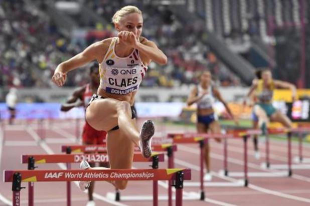 Hanne Claes qualifiée pour les demi-finales du 400m haies à Doha, Paulien Couckuyt éliminée