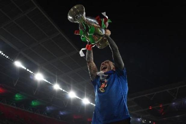 EK 2020 - Italiaanse spelers in de wolken na winst finale