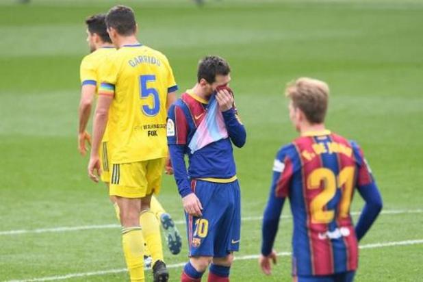 Le FC Barcelone vendange contre Cadix et loupe le coche