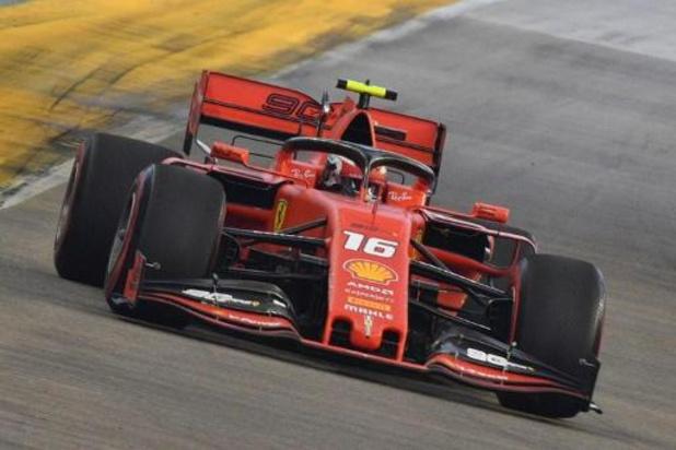Charles Leclerc (Ferrari) is snelste in derde oefenritten