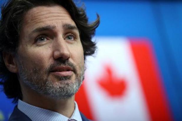 Le Premier ministre canadien Justin Trudeau en visite au site Pfizer à Puurs