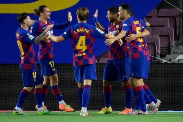 La Liga - Le Barça reste en course et condamne l'Espanyol à la relégation
