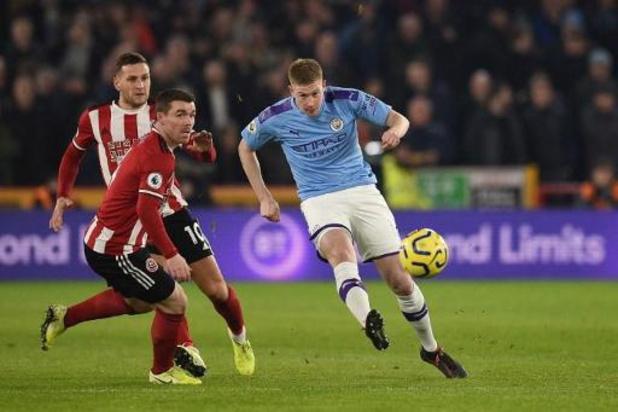 Belgen in het buitenland - Manchester City wint na assist van De Bruyne bij Sheffield United
