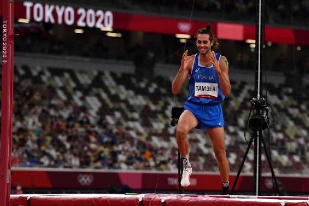 JO 2020: l'or olympique partagé entre l'Italien Tamberi et le Qatari Barshim