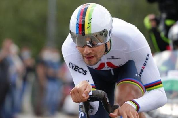 Ganna wint openingstijdrit in Giro, Evenepoel zevende bij rentree