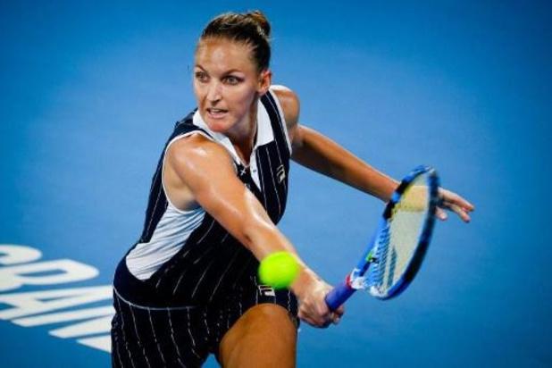 Titelverdedigster Karolina Pliskova en Madison Keys spelen finale in Brisbane