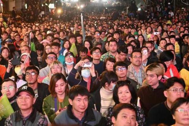 Verkiezingen Taiwan - Zittend staatshoofd Tsai Ing-wen kondigt overwinning aan