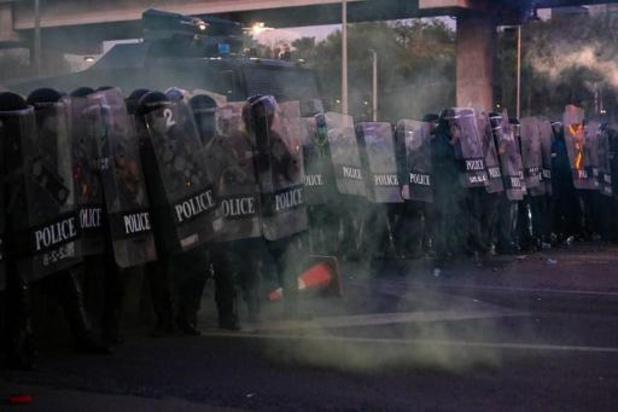 Rellen tijdens antiregeringsprotesten in Thailand