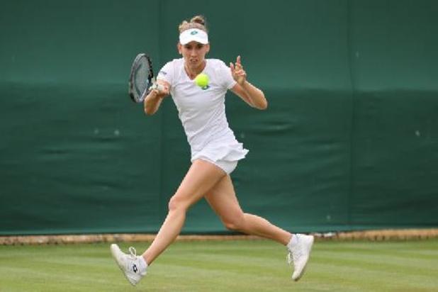 Elise Mertens neemt eerste horde op Wimbledon