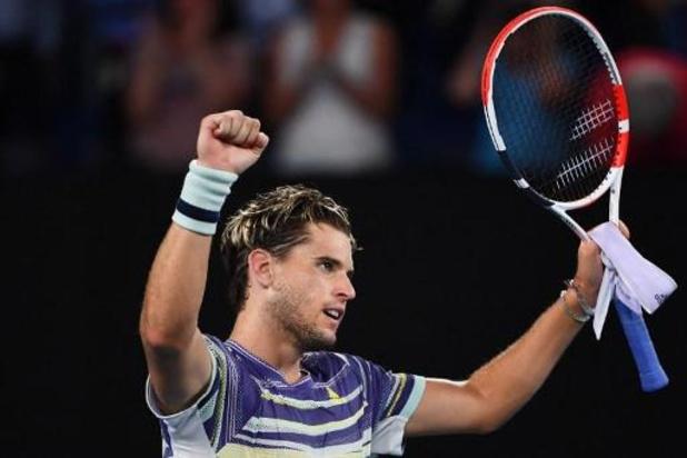 """Dominic Thiem """"heureux"""" d'avoir battu Rafael Nadal pour la première fois en Grand Chelem"""