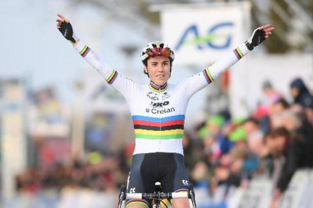 Championnats de Belgique de cyclocross: Sanne Cant titrée pour la 11e fois de suite, Thibau Nys sacré chez les juniors