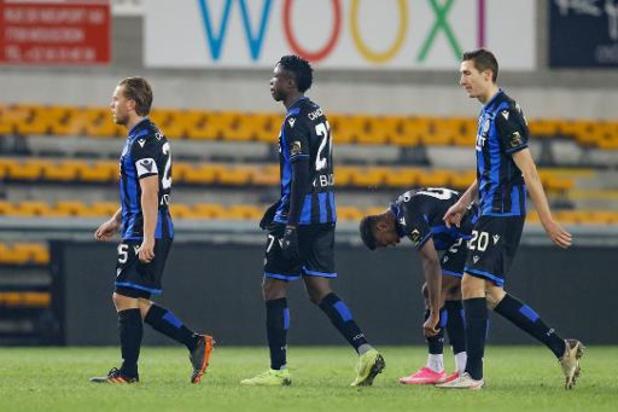 Jupiler Pro League - Club Brugge scoort niet in Moeskroen en laat leidersplaats aan Genk