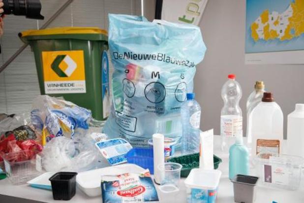 Nieuwe blauwe pmd-zak in heel Vlaanderen vanaf 1 april