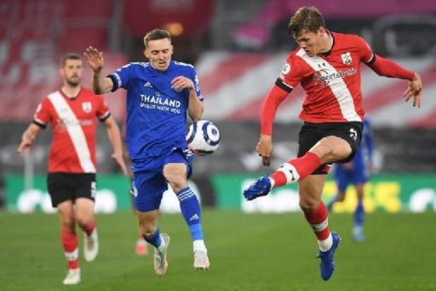 Les Belges à l'étranger - Leicester accroché à Southampton, qui a joué 80 minutes à dix
