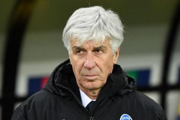 L'entraîneur de l'Atalanta Gian Piero Gasperini était malade lors du match à Valence