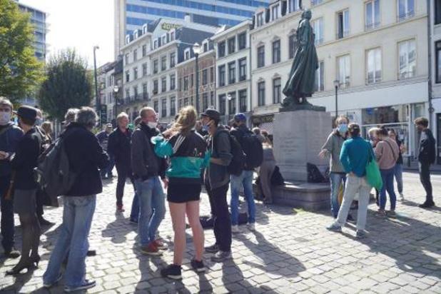 Bruxelles: manifestation pour protester contre la fin du moratoire contre les expulsions