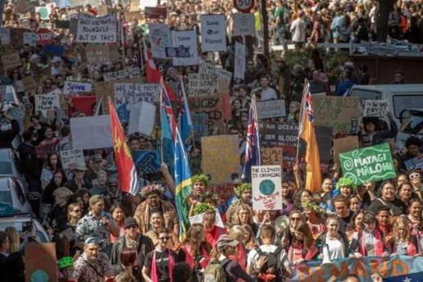 Grote opkomst voor eerste intergenerationele klimaatstaking in Nieuw-Zeeland