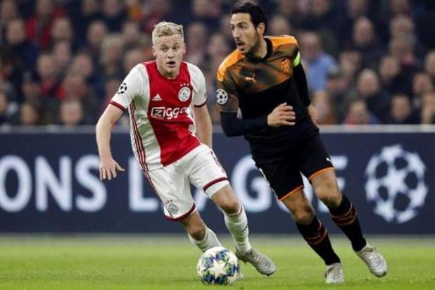 Ajax bevestigt transfer Van de Beek naar Manchester United