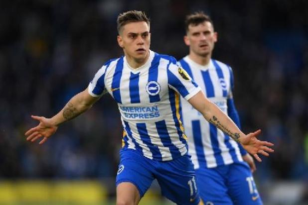 Les Belges à l'étranger - Leandro Trossard, buteur, aide Brighton à renverser le champion Manchester City