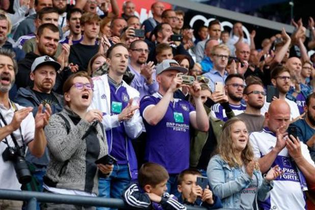 Jupiler Pro League - 300 tickets supplémentaires pour les supporters du RSC Anderlecht au Cercle Bruges