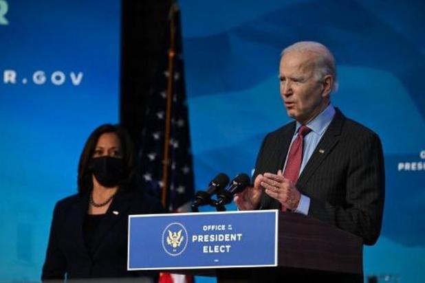 """Transition à la Maison Blanche - """"Les bases"""" d'un nouveau paquet d'aide à l'économie dès la semaine prochaine"""