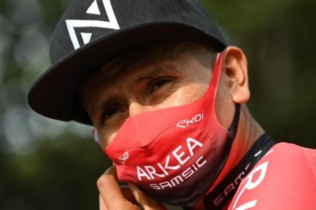 Critérium du Dauphiné - Nairo Quintana gaf op met kniepijn