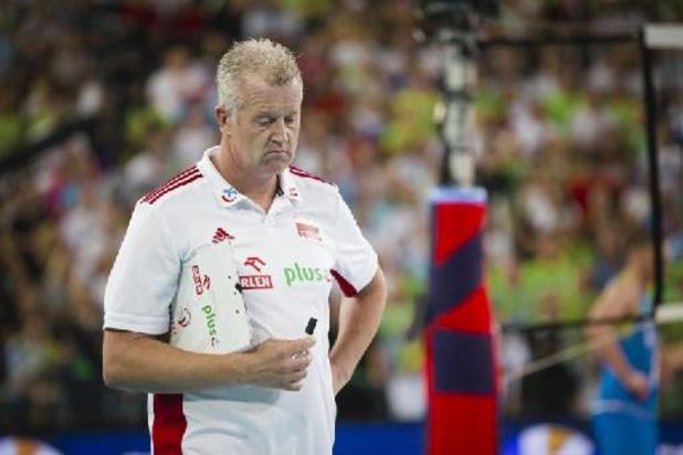 Vital Heynen en Poolse volleybalmannen stranden in kwartfinales