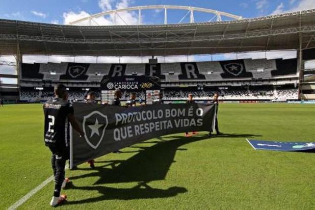 Des gestes de contestation de Botafogo et Fluminense pour leur premier match