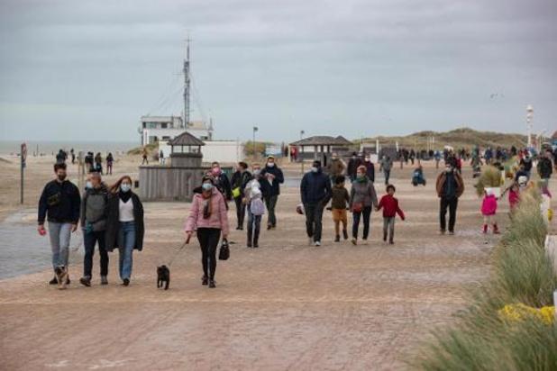 Minder dagtoeristen en overnachtingen aan zee tijdens kerstvakantie