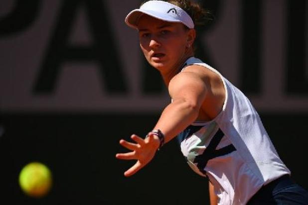 Barbora Krejcikova rejoint les quarts de finale