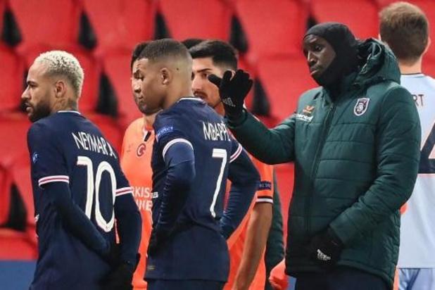 """Champions League - UEFA start """"grondig onderzoek"""" naar racisme bij duel PSG-Basaksehir"""