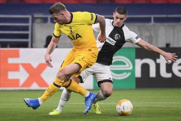 Tottenham en Alderweireld winnen overbodige terugmatch tegen Wolfsberger