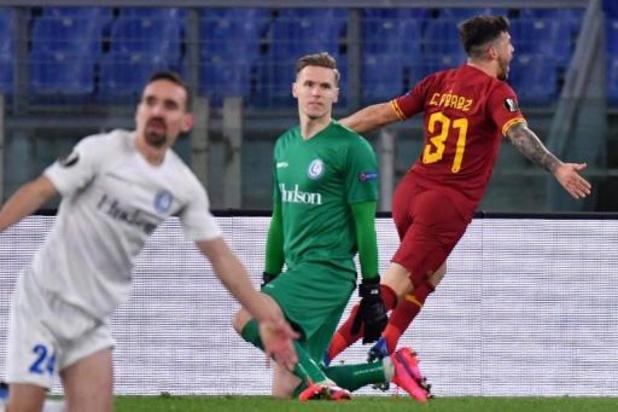 Europa League - Gand bouscule l'AS Rome chez elle mais s'incline finalement sur la plus petite des marges
