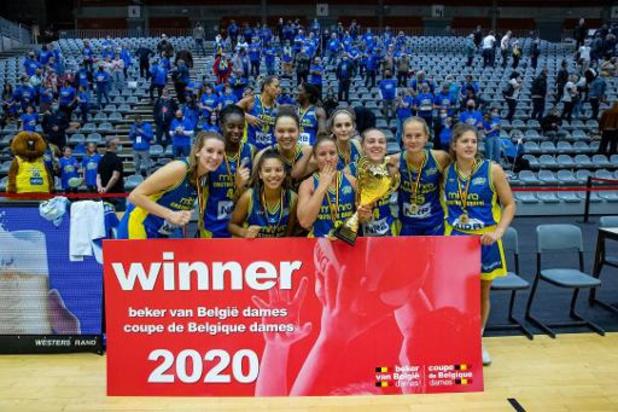 Beker van België (v) - Castors Braine wint Beker van België vrouwenbasketbal vijfde keer