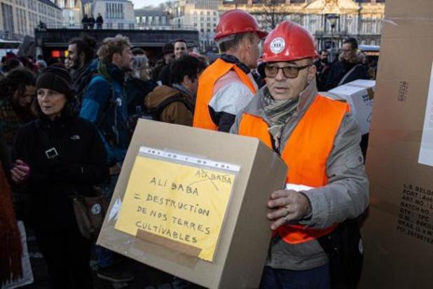 Une cinquantaine de militants contre la venue d'Alibaba à Liège