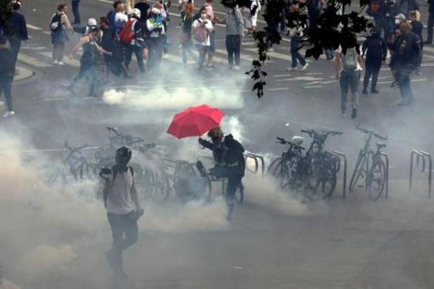 Zaterdag zijn 72 mensen opgepakt bij manifestaties tegen coronapas