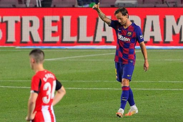 La Liga - Invaller Rakitic redt zwak FC Barcelona tegen Athletic Bilbao