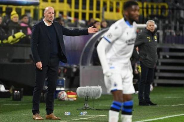 Ligue des Champions - Pour Philippe Clement, la défaite du Club de Bruges est logique