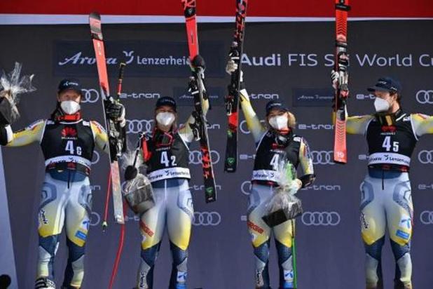 Ski alpin: La Norvège remporte la course par équipes