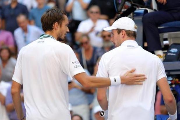 US Open - Medvedev maakt einde aan sprookje Van de zandschulp