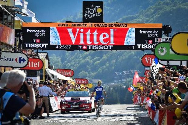 Les premiers cols alpestres au programme de la 8e étape du Tour de France samedi