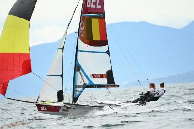 Les Belges Maenhaut et Geurts actuellement 5es en skiff 49er FX dames