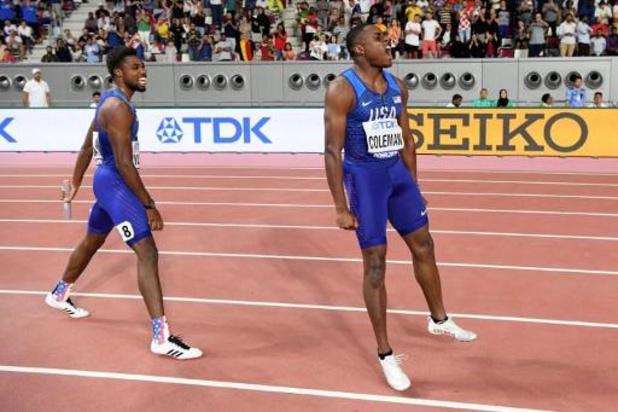 WK atletiek - Amerikaanse mannen veroveren wereldtitel op 4x100m